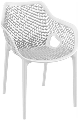 Compamia Air XL Outdoor Dining Arm Chair White ISP007-WHI - RestaurantFurniturePlus + Chairs, Tables and Outdoor - 1