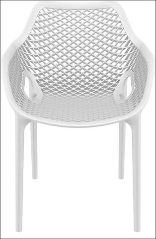Compamia Air XL Outdoor Dining Arm Chair White ISP007-WHI - RestaurantFurniturePlus + Chairs, Tables and Outdoor - 4
