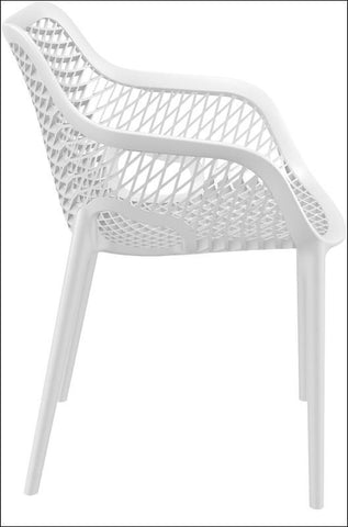 Compamia Air XL Outdoor Dining Arm Chair White ISP007-WHI - RestaurantFurniturePlus + Chairs, Tables and Outdoor - 5