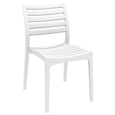 Compamia Ares Outdoor Dining Chair White ISP009-WHI - RestaurantFurniturePlus + Chairs, Tables and Outdoor - 1