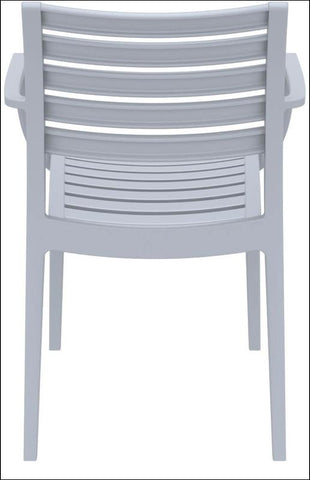 Compamia Artemis Outdoor Dining Arm Chair Silver Gray ISP011-SIL - RestaurantFurniturePlus + Chairs, Tables and Outdoor - 2