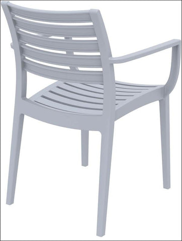 Compamia Artemis Outdoor Dining Arm Chair Silver Gray ISP011-SIL - RestaurantFurniturePlus + Chairs, Tables and Outdoor - 3