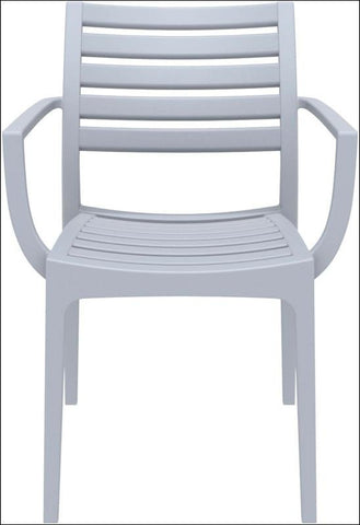 Compamia Artemis Outdoor Dining Arm Chair Silver Gray ISP011-SIL - RestaurantFurniturePlus + Chairs, Tables and Outdoor - 4