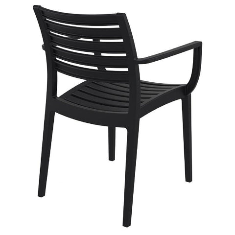 Compamia Artemis Outdoor Dining Arm Chair Black ISP011-BLA - RestaurantFurniturePlus + Chairs, Tables and Outdoor - 3