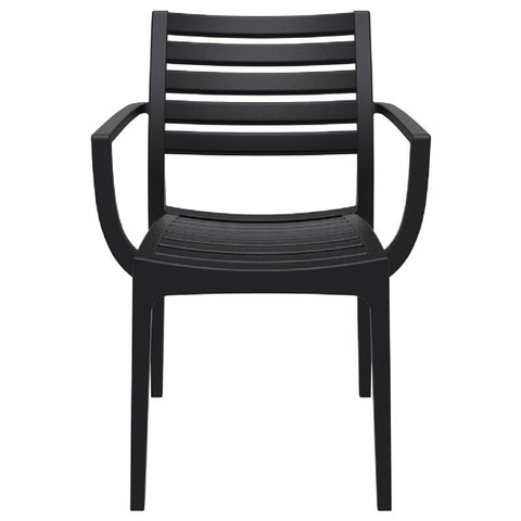 Compamia Artemis Outdoor Dining Arm Chair Black ISP011-BLA - RestaurantFurniturePlus + Chairs, Tables and Outdoor - 2