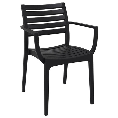 Compamia Artemis Outdoor Dining Arm Chair Black ISP011-BLA - RestaurantFurniturePlus + Chairs, Tables and Outdoor - 1