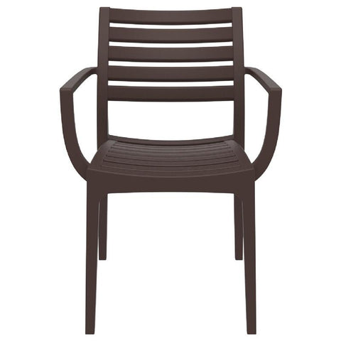 Compamia Artemis Outdoor Dining Arm Chair Brown ISP011-BRW - RestaurantFurniturePlus + Chairs, Tables and Outdoor - 2