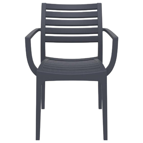 Compamia Artemis Outdoor Dining Arm Chair Dark Gray ISP011-DGR - RestaurantFurniturePlus + Chairs, Tables and Outdoor - 1