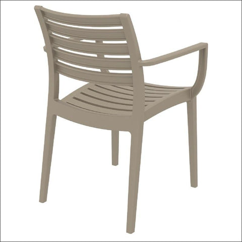 Compamia Artemis Outdoor Dining Arm Chair Dove Gray ISP011-DVR - RestaurantFurniturePlus + Chairs, Tables and Outdoor - 6