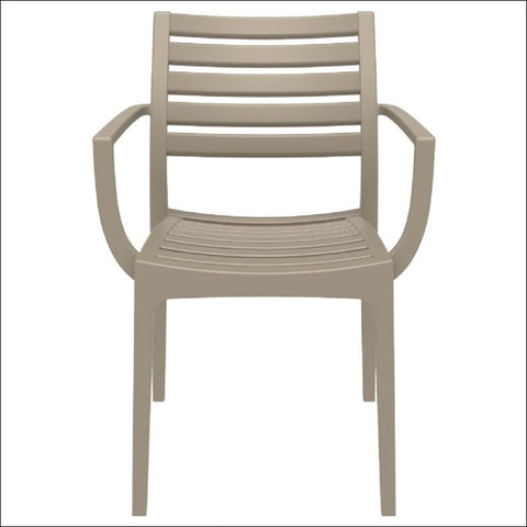 Compamia Artemis Outdoor Dining Arm Chair Dove Gray ISP011-DVR - RestaurantFurniturePlus + Chairs, Tables and Outdoor - 1