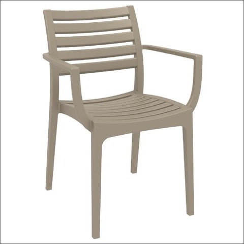Compamia Artemis Outdoor Dining Arm Chair Dove Gray ISP011-DVR - RestaurantFurniturePlus + Chairs, Tables and Outdoor - 2