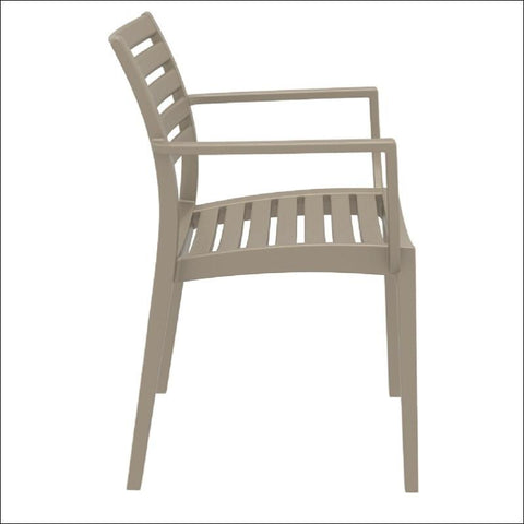 Compamia Artemis Outdoor Dining Arm Chair Dove Gray ISP011-DVR - RestaurantFurniturePlus + Chairs, Tables and Outdoor - 3
