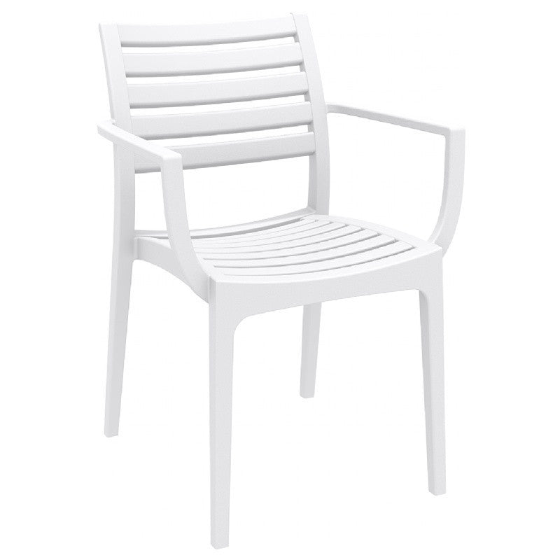 Compamia Artemis Outdoor Dining Arm Chair White ISP011-WHI - RestaurantFurniturePlus + Chairs, Tables and Outdoor - 1