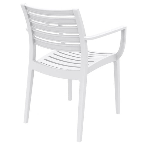 Compamia Artemis Outdoor Dining Arm Chair White ISP011-WHI - YourBarStoolStore + Chairs, Tables and Outdoor  - 2
