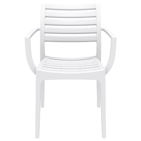 Compamia Artemis Outdoor Dining Arm Chair White ISP011-WHI - YourBarStoolStore + Chairs, Tables and Outdoor  - 3
