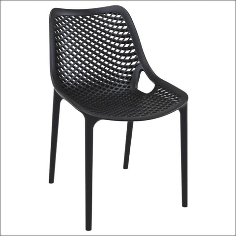 Compamia Air Outdoor Dining Chair Black ISP014-BLA - RestaurantFurniturePlus + Chairs, Tables and Outdoor - 1