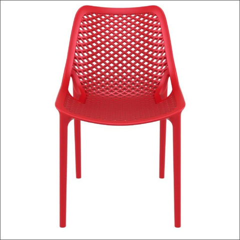 Compamia Air Outdoor Dining Chair Red ISP014-RED - RestaurantFurniturePlus + Chairs, Tables and Outdoor - 2