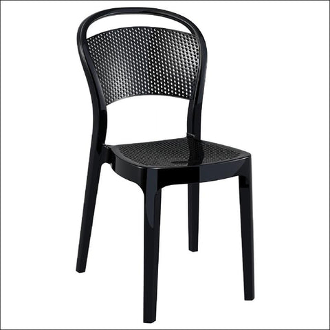 Compamia Bee Polycarbonate Dining Chair Glossy Black ISP021-GBLA - RestaurantFurniturePlus + Chairs, Tables and Outdoor - 1