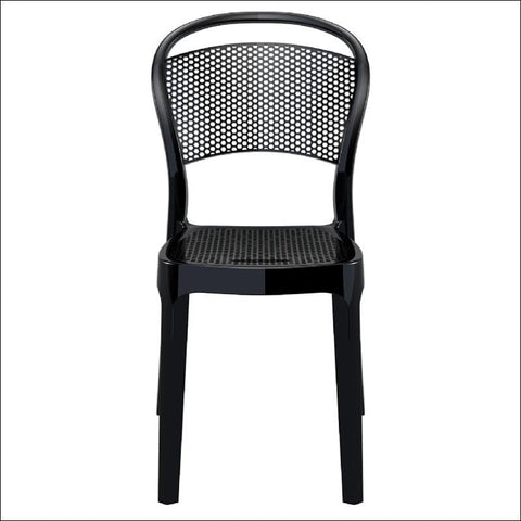 Compamia Bee Polycarbonate Dining Chair Glossy Black ISP021-GBLA - RestaurantFurniturePlus + Chairs, Tables and Outdoor - 2