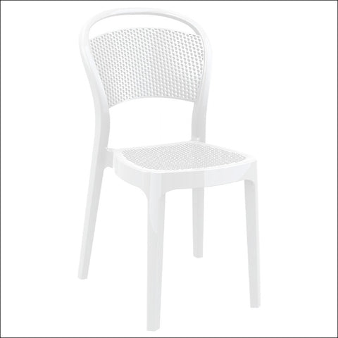 Compamia Bee Polycarbonate Dining Chair Glossy White ISP021-GWHI - RestaurantFurniturePlus + Chairs, Tables and Outdoor - 1