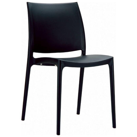 Compamia Maya Dining Chair Black ISP025-BLA - RestaurantFurniturePlus + Chairs, Tables and Outdoor