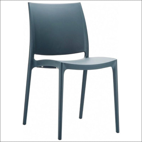 Compamia Maya Dining Chair Dark Gray ISP025-DGR - RestaurantFurniturePlus + Chairs, Tables and Outdoor - 1