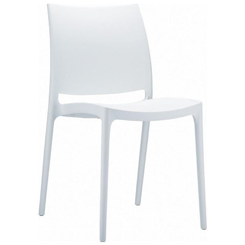 Compamia Maya Dining Chair White ISP025-WHI - RestaurantFurniturePlus + Chairs, Tables and Outdoor - 1
