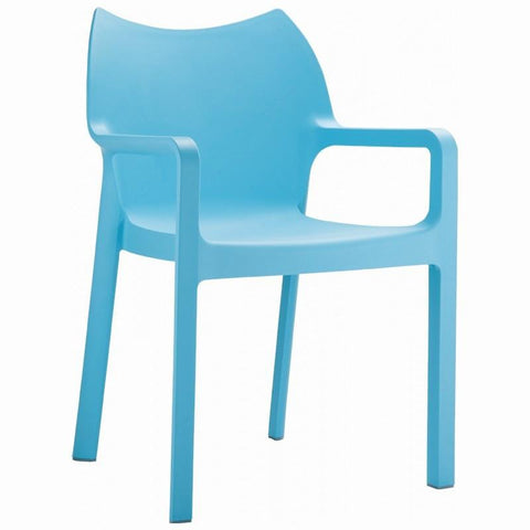 Compamia Diva Resin Outdoor Dining Arm Chair Light Blue ISP028-LBL - RestaurantFurniturePlus + Chairs, Tables and Outdoor
