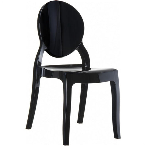 Compamia Elizabeth Polycarbonate Dining Chair Glossy Black ISP034-GBLA - RestaurantFurniturePlus + Chairs, Tables and Outdoor - 1