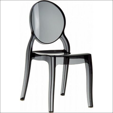 Compamia Elizabeth Polycarbonate Dining Chair Transparent Black ISP034-TBLA - RestaurantFurniturePlus + Chairs, Tables and Outdoor - 1