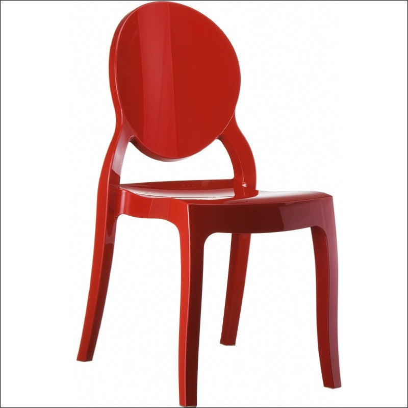 Compamia Elizabeth Polycarbonate Dining Chair Glossy Red ISP034-GRED - RestaurantFurniturePlus + Chairs, Tables and Outdoor - 1