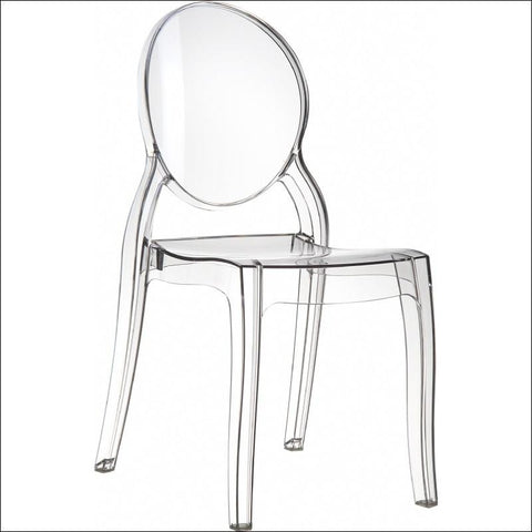 Compamia Elizabeth Polycarbonate Dining Chair Transparent Clear ISP034-TCL - RestaurantFurniturePlus + Chairs, Tables and Outdoor - 1