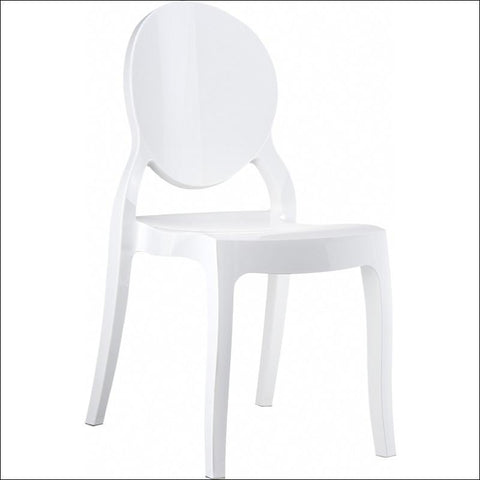 Compamia Elizabeth Polycarbonate Dining Chair Glossy White ISP034-GWHI - RestaurantFurniturePlus + Chairs, Tables and Outdoor - 1