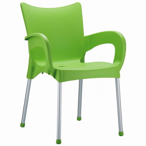 Compamia Romeo Resin Dining Arm Chair Apple Green ISP043-APP - RestaurantFurniturePlus + Chairs, Tables and Outdoor