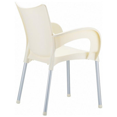 Compamia Romeo Resin Dining Arm Chair Beige ISP043-BEI - RestaurantFurniturePlus + Chairs, Tables and Outdoor - 2