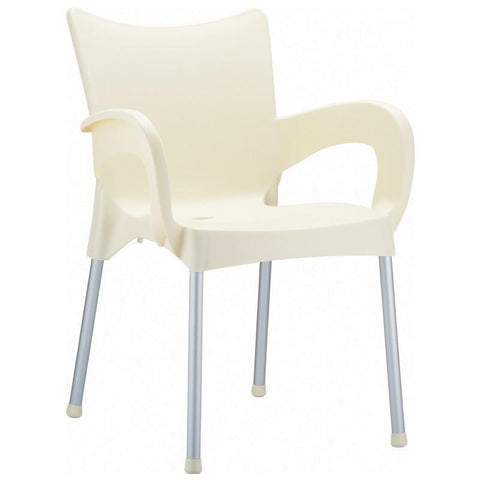 Compamia Romeo Resin Dining Arm Chair Beige ISP043-BEI - RestaurantFurniturePlus + Chairs, Tables and Outdoor - 1