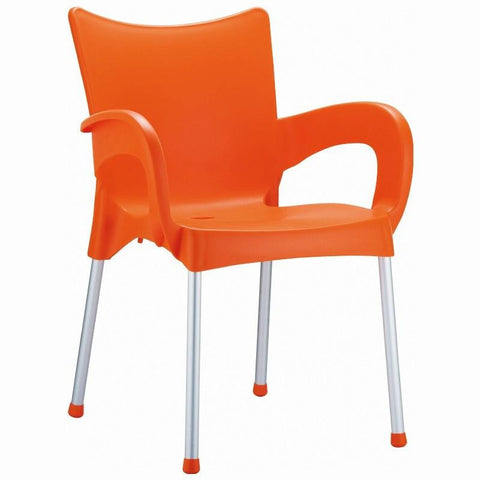 Compamia Romeo Resin Dining Arm Chair Orange ISP043-ORA - RestaurantFurniturePlus + Chairs, Tables and Outdoor - 1