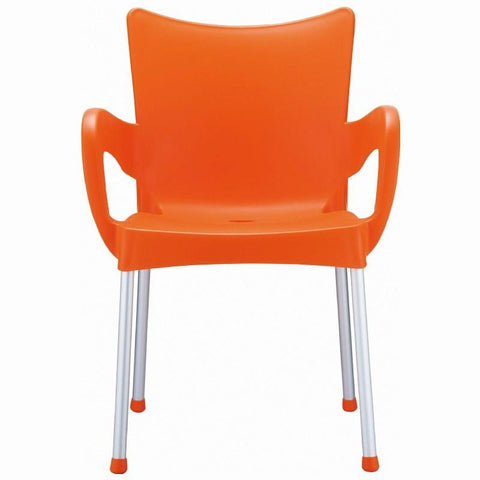 Compamia Romeo Resin Dining Arm Chair Orange ISP043-ORA - RestaurantFurniturePlus + Chairs, Tables and Outdoor - 2