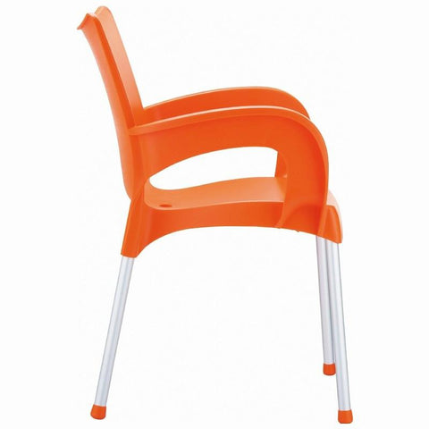 Compamia Romeo Resin Dining Arm Chair Orange ISP043-ORA - RestaurantFurniturePlus + Chairs, Tables and Outdoor - 3
