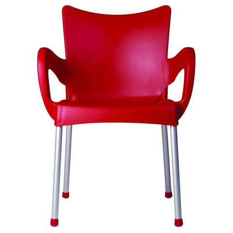 Compamia Romeo Resin Dining Arm Chair Red ISP043-RED - RestaurantFurniturePlus + Chairs, Tables and Outdoor - 2