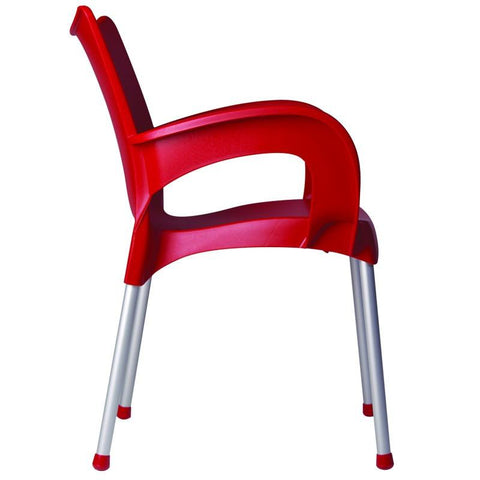 Compamia Romeo Resin Dining Arm Chair Red ISP043-RED - RestaurantFurniturePlus + Chairs, Tables and Outdoor - 3