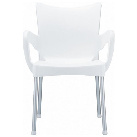 Compamia Romeo Resin Dining Arm Chair White ISP043-WHI - RestaurantFurniturePlus + Chairs, Tables and Outdoor - 2