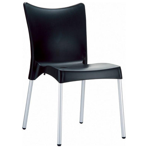 Compamia Juliette Resin Dining Chair Black ISP045-BLA - RestaurantFurniturePlus + Chairs, Tables and Outdoor
