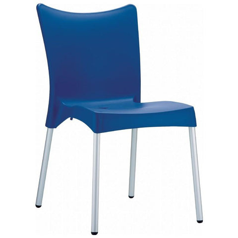 Compamia Juliette Resin Dining Chair Dark Blue ISP045-DBL - RestaurantFurniturePlus + Chairs, Tables and Outdoor