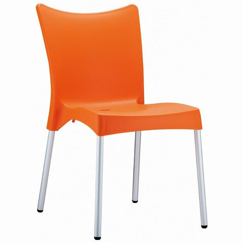 Compamia Juliette Resin Dining Chair Orange ISP045-ORA - RestaurantFurniturePlus + Chairs, Tables and Outdoor - 1
