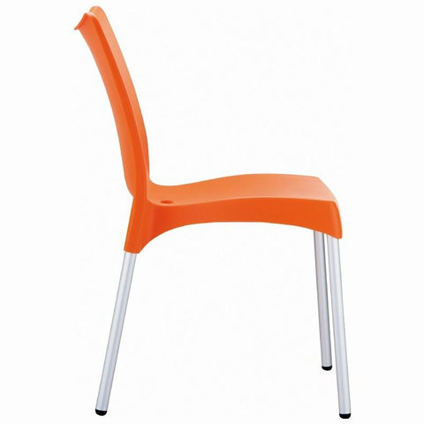 Compamia Juliette Resin Dining Chair Orange ISP045-ORA - RestaurantFurniturePlus + Chairs, Tables and Outdoor - 3