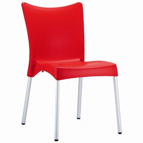 Compamia Juliette Resin Dining Chair Red ISP045-RED - RestaurantFurniturePlus + Chairs, Tables and Outdoor - 1