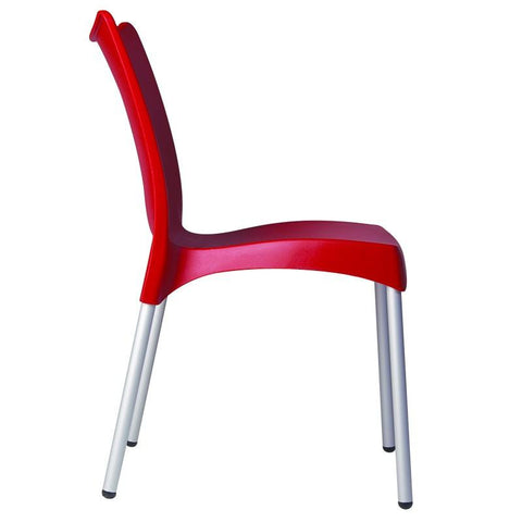 Compamia Juliette Resin Dining Chair Red ISP045-RED - RestaurantFurniturePlus + Chairs, Tables and Outdoor - 4