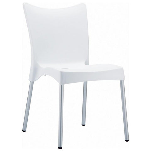 Compamia Juliette Resin Dining Chair White ISP045-WHI - RestaurantFurniturePlus + Chairs, Tables and Outdoor - 1