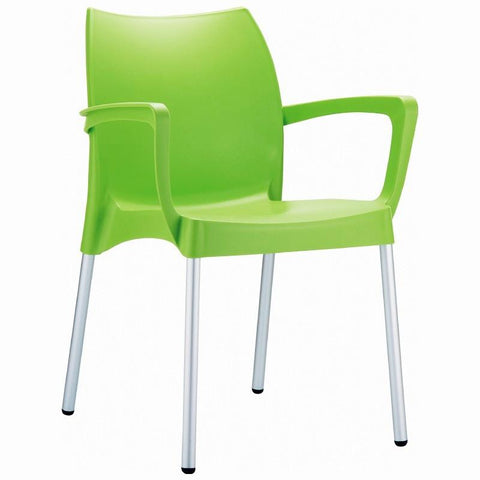 Compamia Dolce Resin Outdoor Arm Chair Apple Green ISP047-APP - RestaurantFurniturePlus + Chairs, Tables and Outdoor